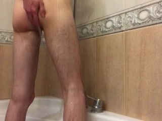 Playing in shower with my dick and ass